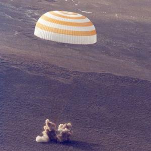 Посадка первых космонавтов