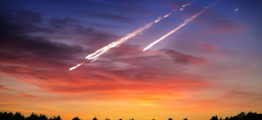 padenie meteorita na zemliu